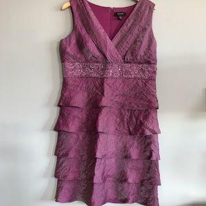 Purple Ruffled Dress